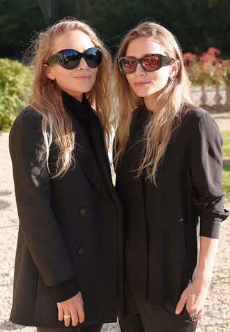 olsen sisters blogger sunglasses jacket top shirt
