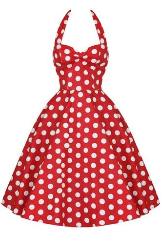 50s style polka dot style polka dot dress red dress prom dress evening dress vintage vintage dress