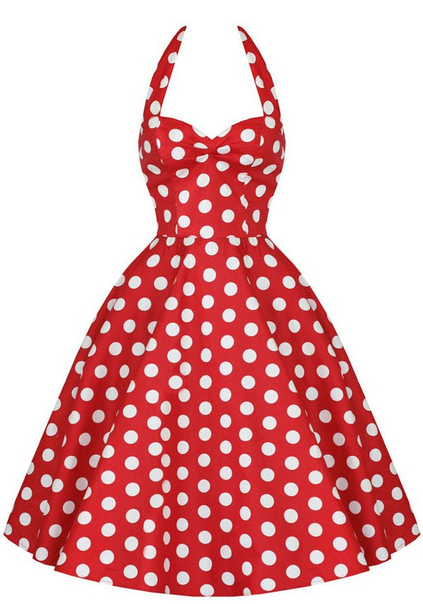 50s style polka dot style polka dot dress red dress prom dress evening dress 50s style vintage vintage dress