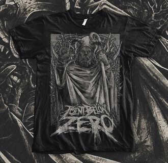 t-shirt shirt death metal metal deathcore bands alternative music rock black black shirt black t-shirt point below zero merch band merch band t-shirt