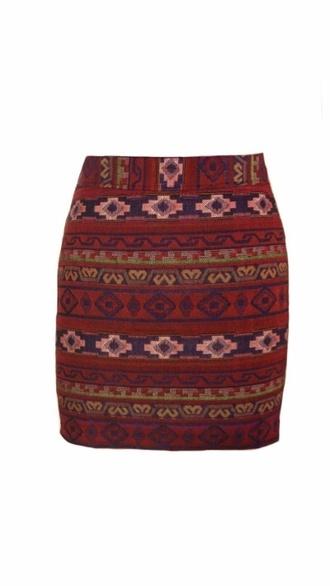 skirt aztec inka short skirt