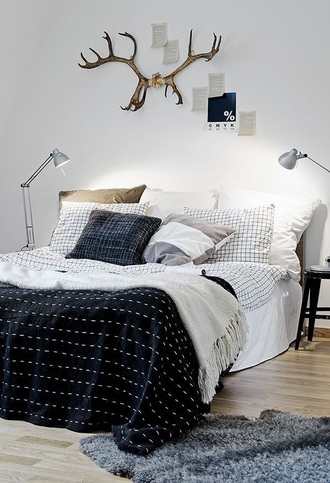 home accessory bedding hipster black and white home decor checkered blanket