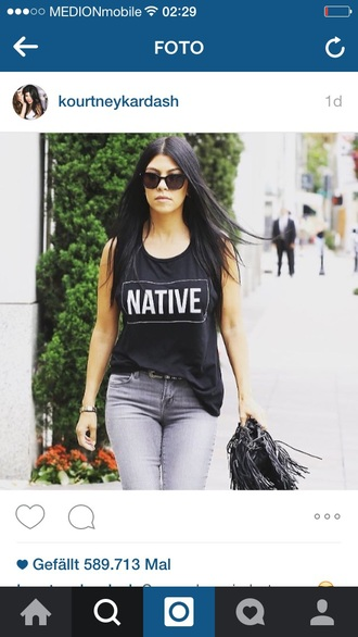 kourtney kardashian black tank top