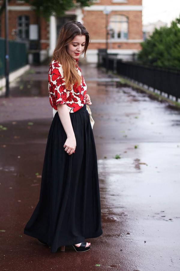 elodie in paris skirt shoes bag