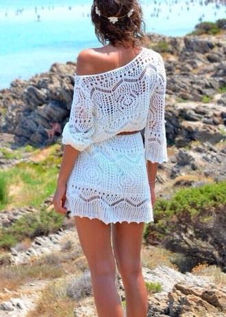 dress crochet beach beach dress