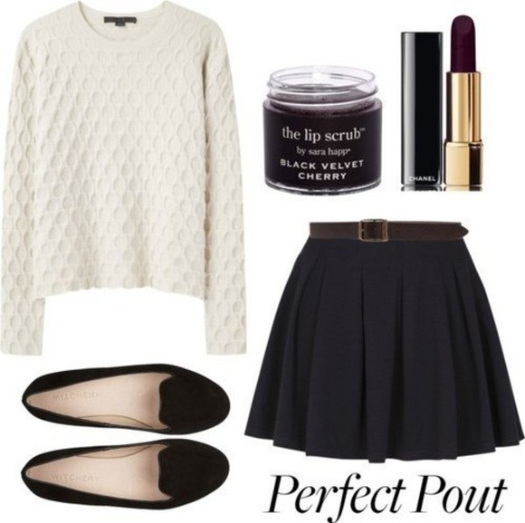 ballerinas platform ballerinas shoes flats skirt black skirt vintage suede ballerinas suede ballet flats ballet flats sweater white sweater knit sweater mini skirt skirt with belt suede shoes black flats shirt