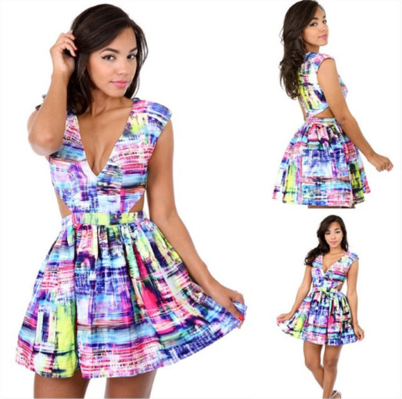 summer multicolor dress summer dress multicolor dress
