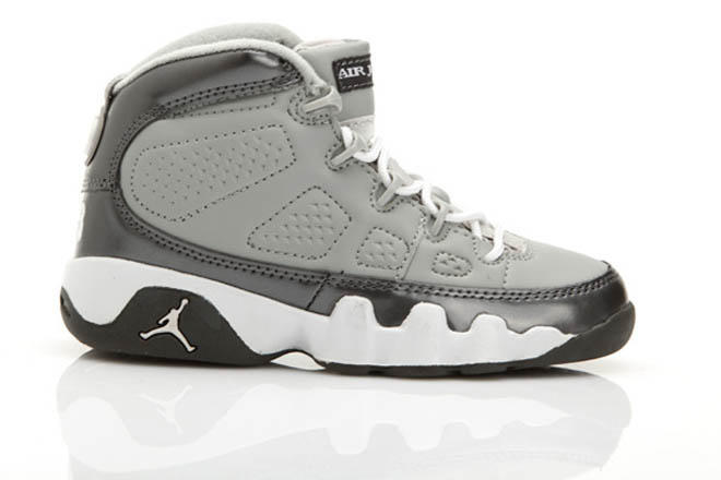 Michael Shoes: Youth Basketball Shoes with Nedium Grey/White/Cool Grey Custom -  $90.99 - marsretro.com