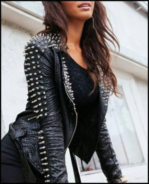 jacket black studs leather leather jacket sexyinleather edit tags