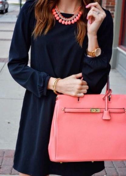 bag tote bag pink bag