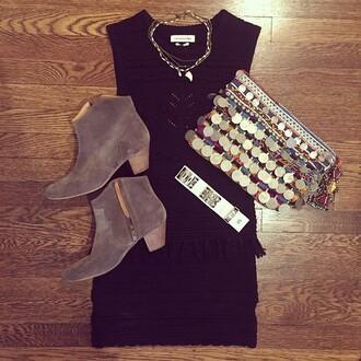 dress black dress little black dress indian boots women's accessories