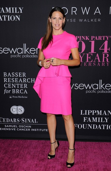 sandals dress pink Jennifer Garner