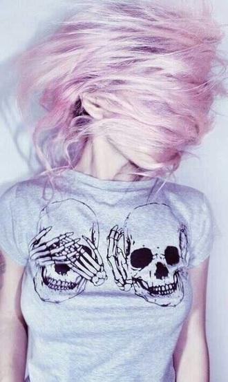t-shirt skull t-shirt grunge grunge t-shirt punk punk rock