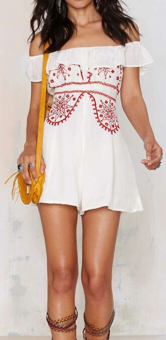 dress summer red floral summer dress beach romper short dress white summer dress embroidered embroidered dress floral dress hippie hippie chic hippie dress beach dress boho boho chic country style country country dress hipster summer outfits