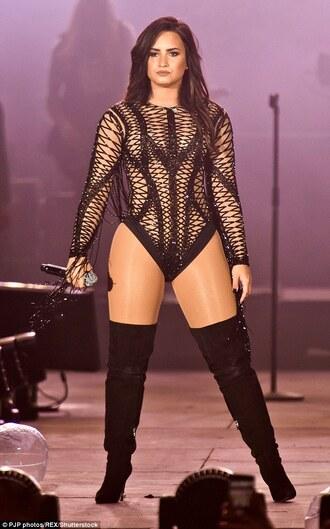 top demi lovato bodysuit sexy