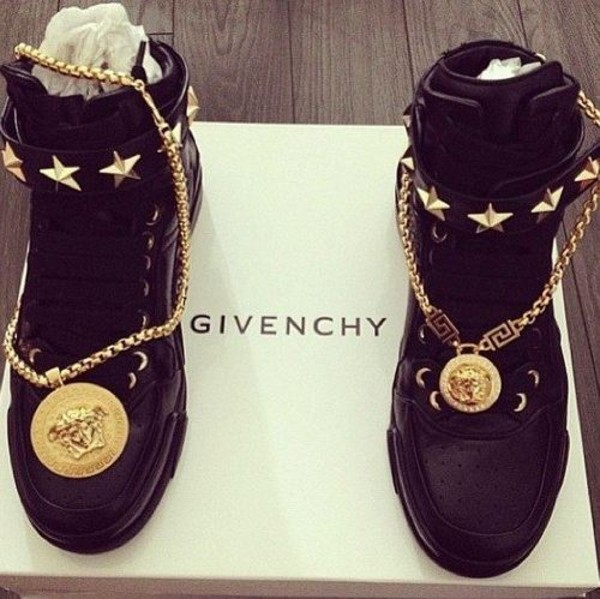 shoes givenchi shoes sneakers black