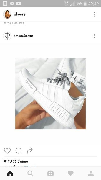 e3d305dfd839 shoes white shoes adidas shoes sneakers adidas nmd