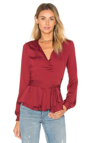 blouse long burgundy top