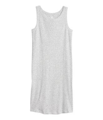 dress sleeveless dress grey dress tank dress