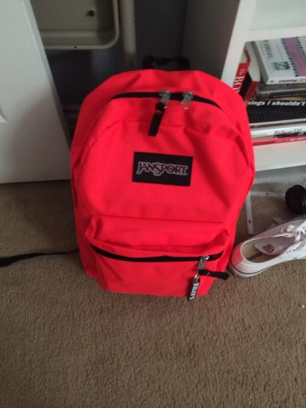 bag bright pink backpack jansport