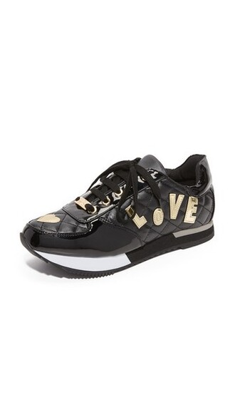 love sneakers black shoes