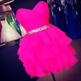 dress prom dress pink neon shiny pink dress party dress party pretty dark pink hot pink sequins sequin dress cute prom sequin prom dress hot pink dress sleeveless dress sleeveless sleeveless pink dress pink prom dress swimwear short dress strapless funny cute dress neon pink short sweetheart ruffledskirt dance dress silver sequins ruffle selena gomez hot pink short dress phone cover gliter belt