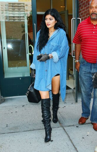 dress oversized denim shirt