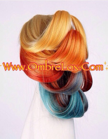 rainbow hair accessories ombrelox hair extensions hair piece hairstyles hair dye hair colour ponytail