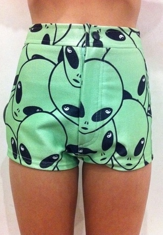 shorts green shorts short shorts different summer shoes summer shorts vibrant retro