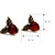 Red Hearts Wings ShanZuan Stud Earrings E0002 [Earrings] - $4.00 : tocgtn.com