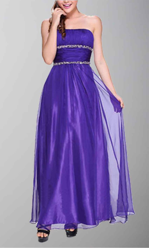 purple dress strapless strapless dress empire waist dress organza dresses long prom dress formal dress long party dress full length prom dress