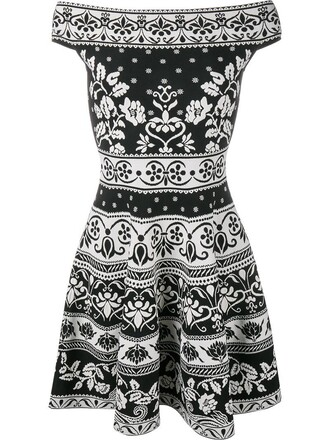 dress mini dress mini women spandex jacquard floral black