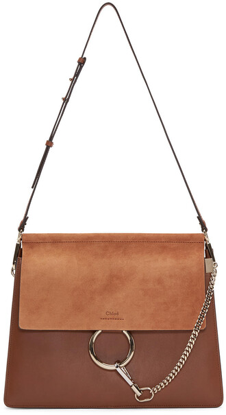 bag leather suede brown