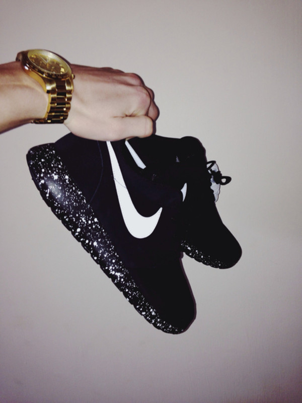 shoes nike black nice fashion