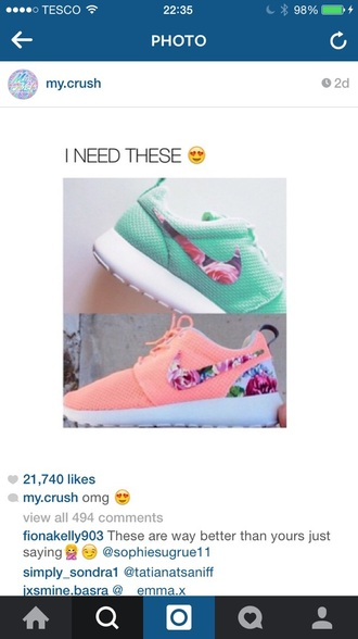 shoes pink turquoise mint nike trainers