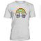 Rainbow skeleton hand rock out tshirt
