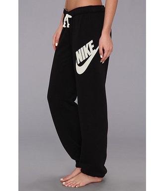 pants nike black white black and white sweatpants lazy day