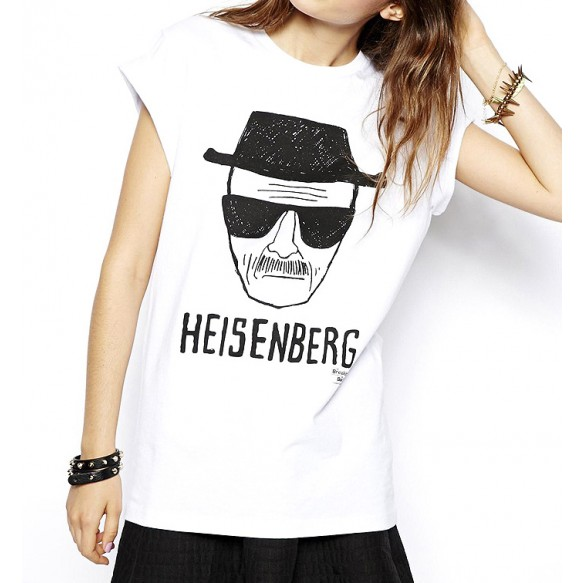 T-shirt With Heisenberg Sketch Print