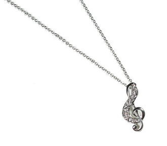 jewels necklace music music note dainty adorable chain sparkle cool hip in stylish funky musical girly gift ideas perfect fun treble clef musical notes