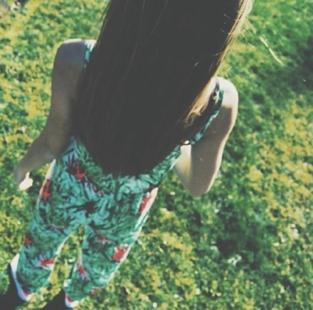 blouse jumpsuit flowers summer jumpsuit