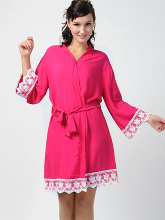 pajamas hot pink kimono bridesmaid robe