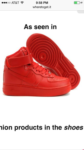 483338c1bd shoes red nike air force 1 mid high top nike air force