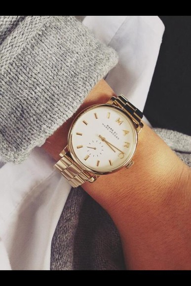 watch jewels marc jacobs gold cute