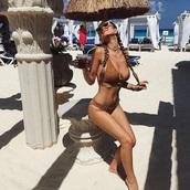 swimwear,brown,bikini