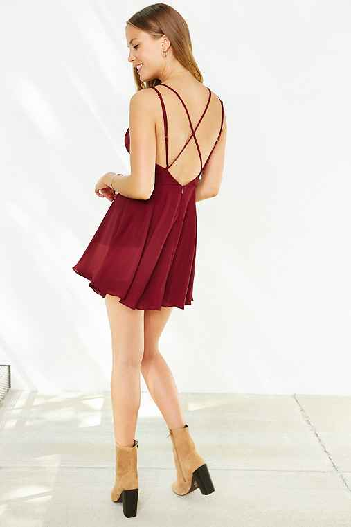 89dad9fa923c Sparkle & Fade Strappy Chiffon Skater Dress - Urban Outfitters