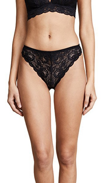 Cosabella panties indie high black underwear
