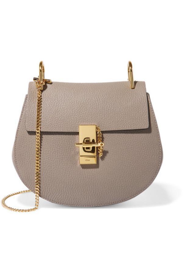 Chloé Chloé - Drew Small Textured-leather Shoulder Bag - Light gray