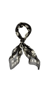 Alexander mcqueen : black/ivory skull scarf