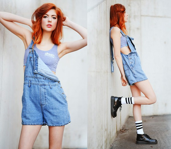 jumpsuit ebba zingmark vintage denim dungaree stripe calf socks rocket dog top socks shoes