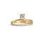 Floating diamond pavé ring